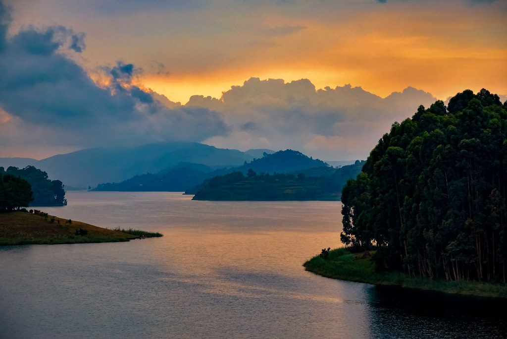 Sundown at Lake Bunyonyi